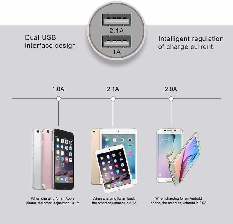 المزدوج USB سيارة شاحن الطاقة محول + نوع C USB 3.1 بيانات الشحن كابل ل Asus Zenpad S 8.0 Z580 /ZE552KL ZE520KL ZS550KL