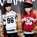 Осень 2017 Модные Дети набор Из Двух Частей Девушка Костюм Беговая Дорожка Бег Устанавливает Случайный Спортивная Одежда Костюм