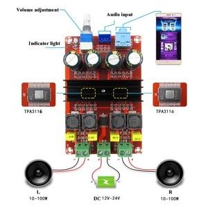 Image 1 - 100W *2 TPA3116D2 Digital Audio Power Amp Amplifiers 2.0 Channels tpa3116 Class D HiFi Stereo Amplifier board DC12 24V