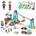 01042 Friends LegoINGlys Snow Resort Ski Lift Gift Club Ski Vacation Skiing Figure Building Blocks Bricks Toys For Girls Legoing