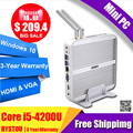 Hystou 3 year Warranty PC Intel NUC i5 4200U Fanless Mini PC Windows 10 Micro Desktop Computer HDMI VGA 4k HTPC TV Box Small PC