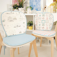 New Arrival Seat Cushion Cotton Linen Thickness 2 Cm Cartoon Stripe Slip Resistant Cushion For Dining