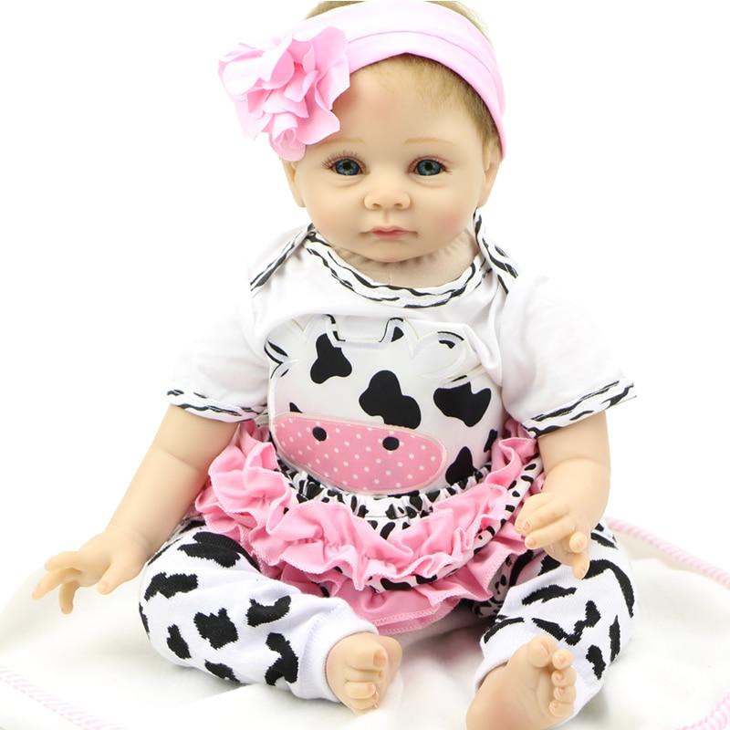 Фото Lifelike 22inch Handmade Doll Baby Doll Reborn Soft Silicone Newborn Babies Dolls Collectible Finished Doll. Купить в РФ