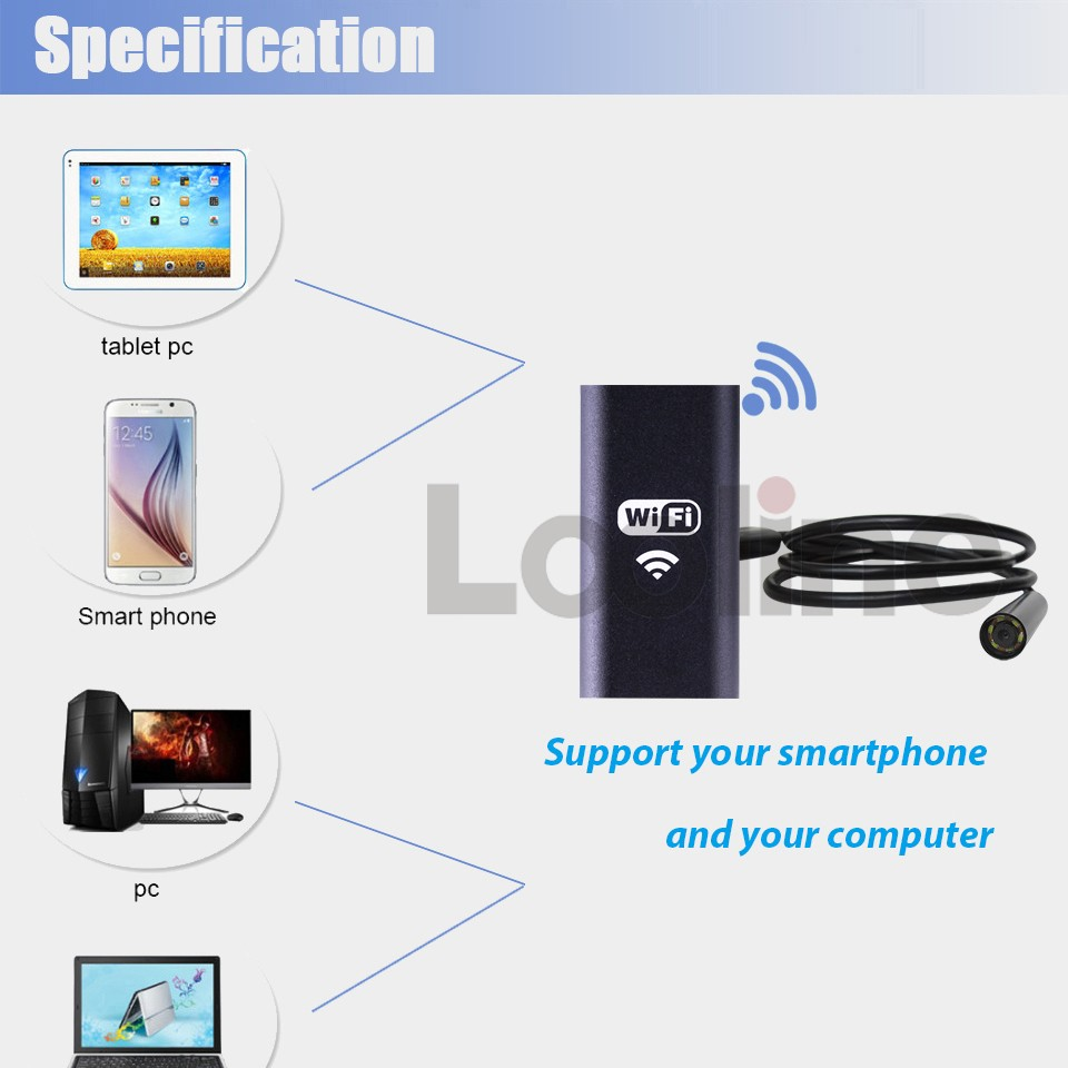 NTS200 3.5 LCD 3MP 720P HD Borescope USB Endoscope 8.2mm 1235M Probe 6 Led 4XZoom Inspection Video Cam 360 Degree Rotate Flip 1