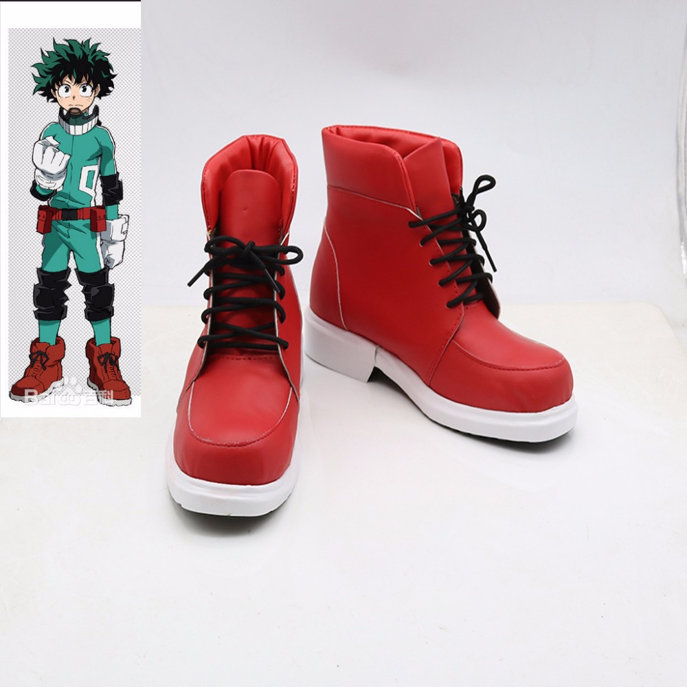 Cosplaydiy Custom Made Anime My Hero Academia Izuku Cosplay Shoes Boots Props Halloween Cosplay Shoes Accessories