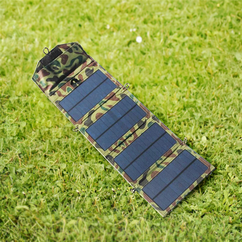 Image 3 - Portable folding 7W Solar Panel 5V USB Output Portable Foldable Power Bank Solar Charger for Outdoor Smartphone Solar Powerbank-in Power Bank from Cellphones & Telecommunications