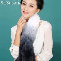 Winter Soft 2013 New Real Rex Rabbit Neck Fur Scarf Woman Winter Scarves