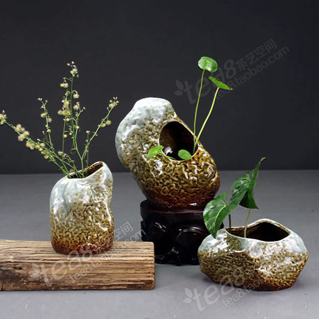Personalized Glazed Ceramic Flower Vase Kiln Plug Hydroponic Flowers