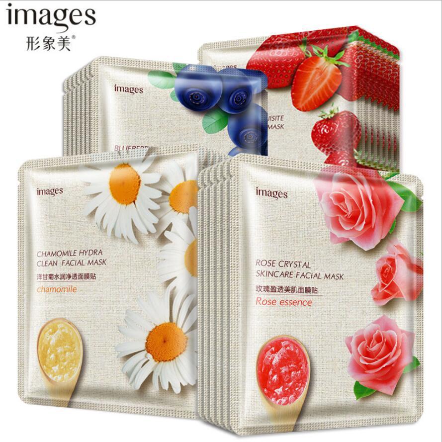 40pcs Sheet Mask Fruit Plant Ingredient Facial Skin Care Moisturizing Whiteing Beauty Face Mask