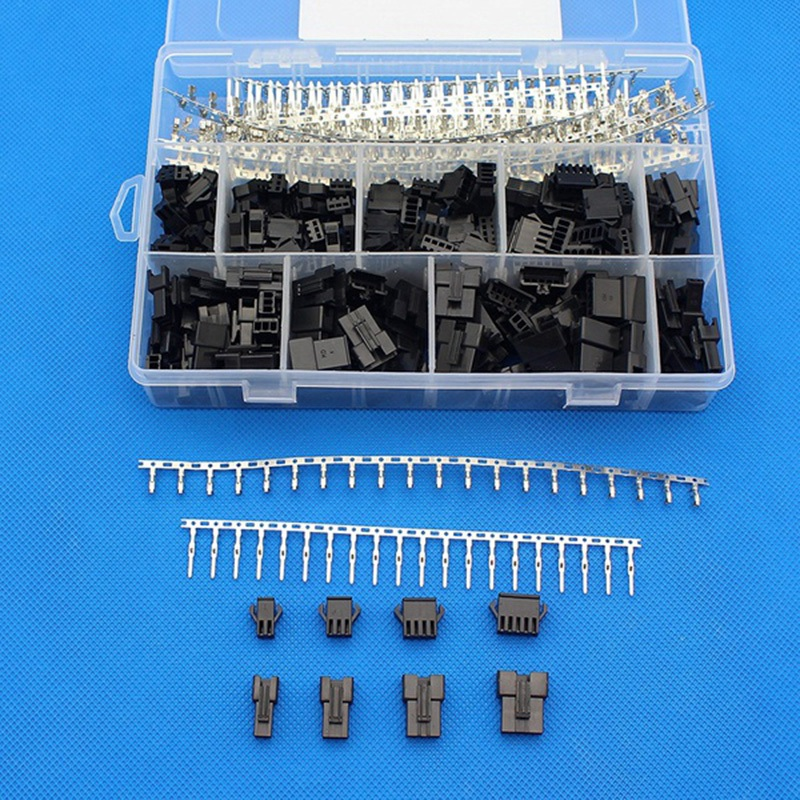 560Pcs 2.5mm Pitch 2/3/4/5 Pin JST/SM Connector Male and Female Plug Housing Connector Adaptor Assortment Kit