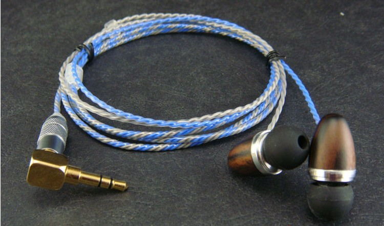 diy earphone wooden shell Silver-plated Furukawa Teflon wire ie8 driver diy earphone wooden shell silver plated furukawa teflon wire
