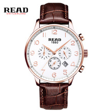 READ WATCH Multi-functional sports men's watch fashion belt watch quartz watch R6081