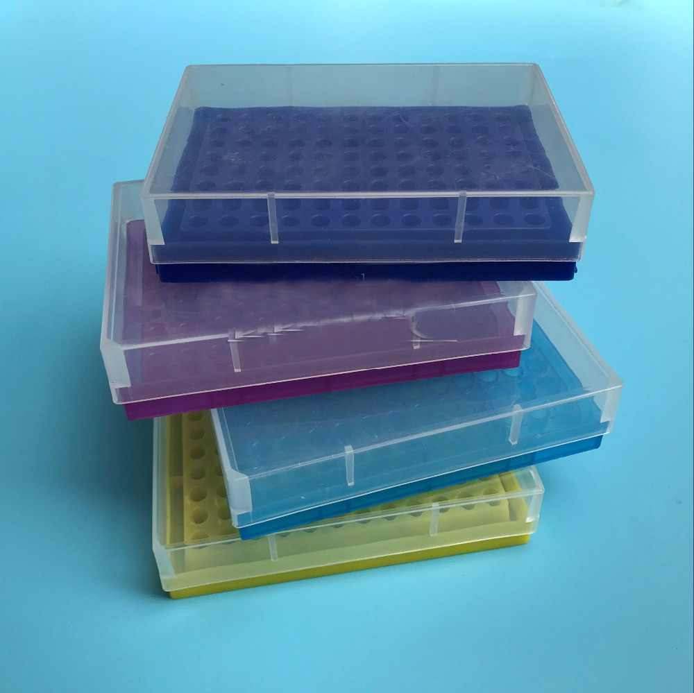 10pcs/lot 0.2ml Centrifuge tube box 96 cells PCR tube Storage boxs Laboratory supplies free shiping