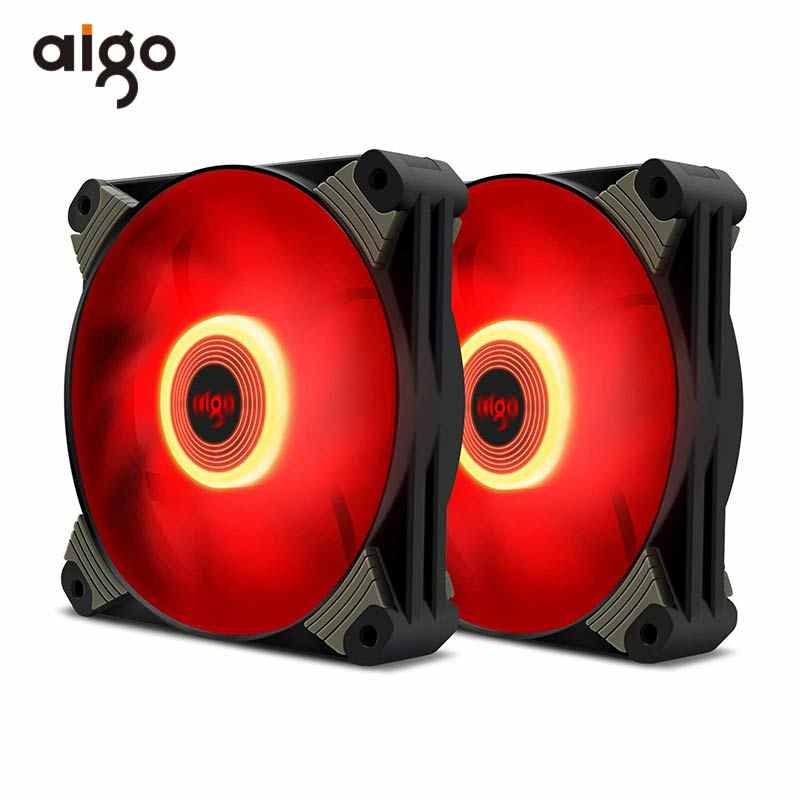 Aigo ICY-X1 عالية الكفاءة PC حالة مروحة 120 مللي متر التبريد مروحة ل مروحة كمبيوتر برودة 3P + 4P المزدوج واجهة Ventilador PC مروحة 12v