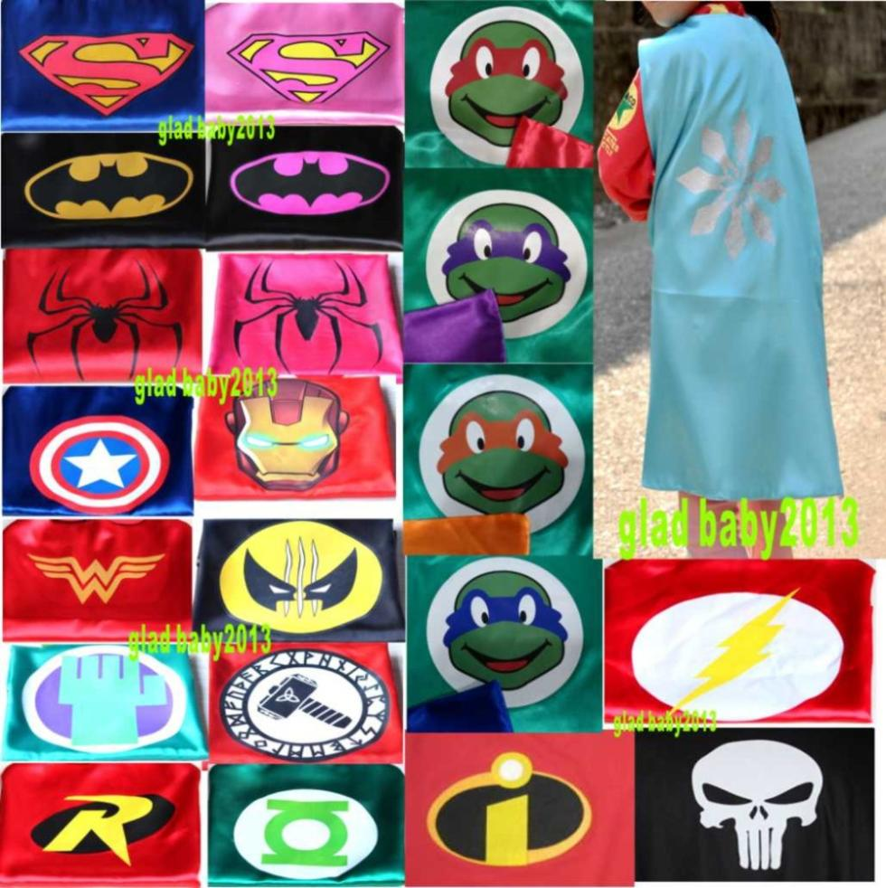 Superhero Cape - wholesale Superman, Batman, Spiderman,elsa, Flash, Supergirl, Batgirl, Robin, kids capes,children costume bulk
