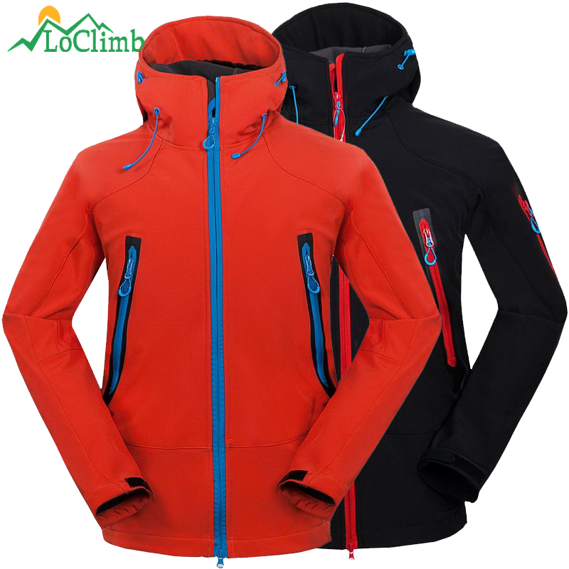 LoClimb Brand Camping Hiking Jackets Men Outdoor Sport Softshell Waterproof Coat Trekking Climbing Cycling Ski Windbreaker AM217|Hiking Jackets| |  - title=