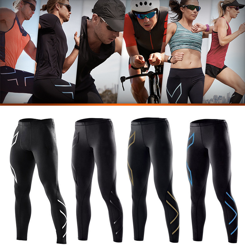 Cycling Tights Pants Splicing Compression Mens Long Pants Spandex Running Base Layers Quick-dry Running Fitness Pants