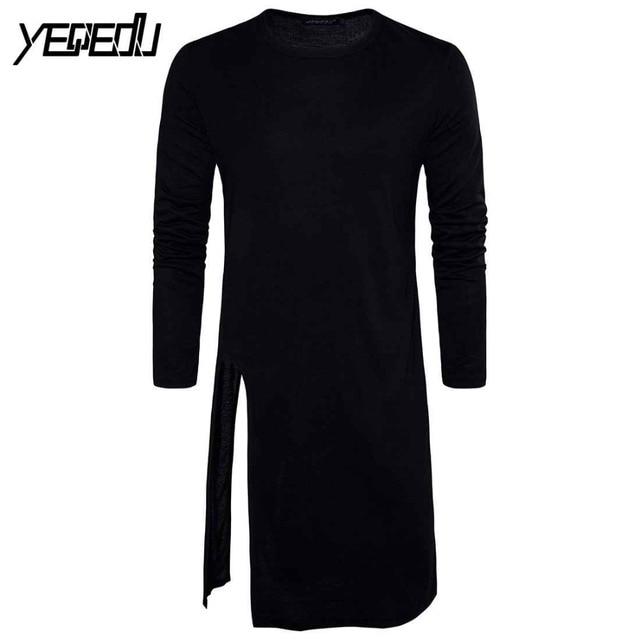 28f1425a7  3036 2018 Camiseta de manga larga Camisetas Extra largas para hombres  negro blanco Camiseta