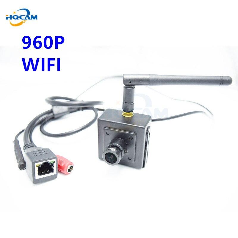 HQCAM 1.3 Mégapixels mini wifi caméra ip wifi soutien microphone 960 P pour 3.6mm Objectif H.264 Onvif caméra de sécurité CCTV Caméra