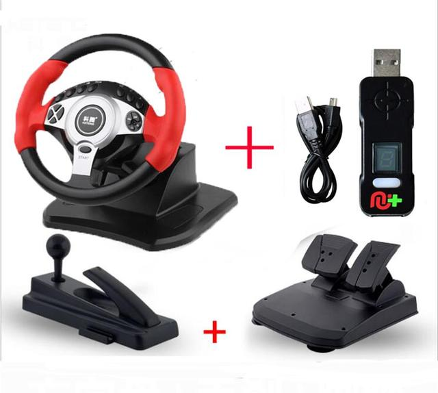 Compareand-900 Degree Racing Steering Wheel Controller Pedal Driving