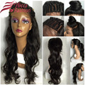 Wave Lace Front Human Hair Wigs With Baby Hair Glueless Full Lace Wigs,Brazilian Virgin Full Lace Human Hair Wig pony tail wig