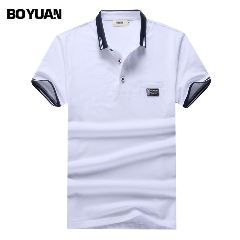 Boyuan brand men polo shirt solid mens polo shirts polos for Polo brand polo shirts