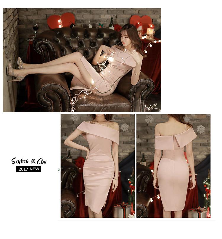 HTB16pqxPFXXXXcxXXXXq6xXFXXXu - Pink Slim Sexy Off The Shoulder Sleeveless Ladies Zippers Bodycon Party Dress JKP025