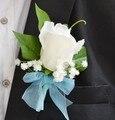 Novo partido Bow Rose flor de noiva romântico flor dos homens de