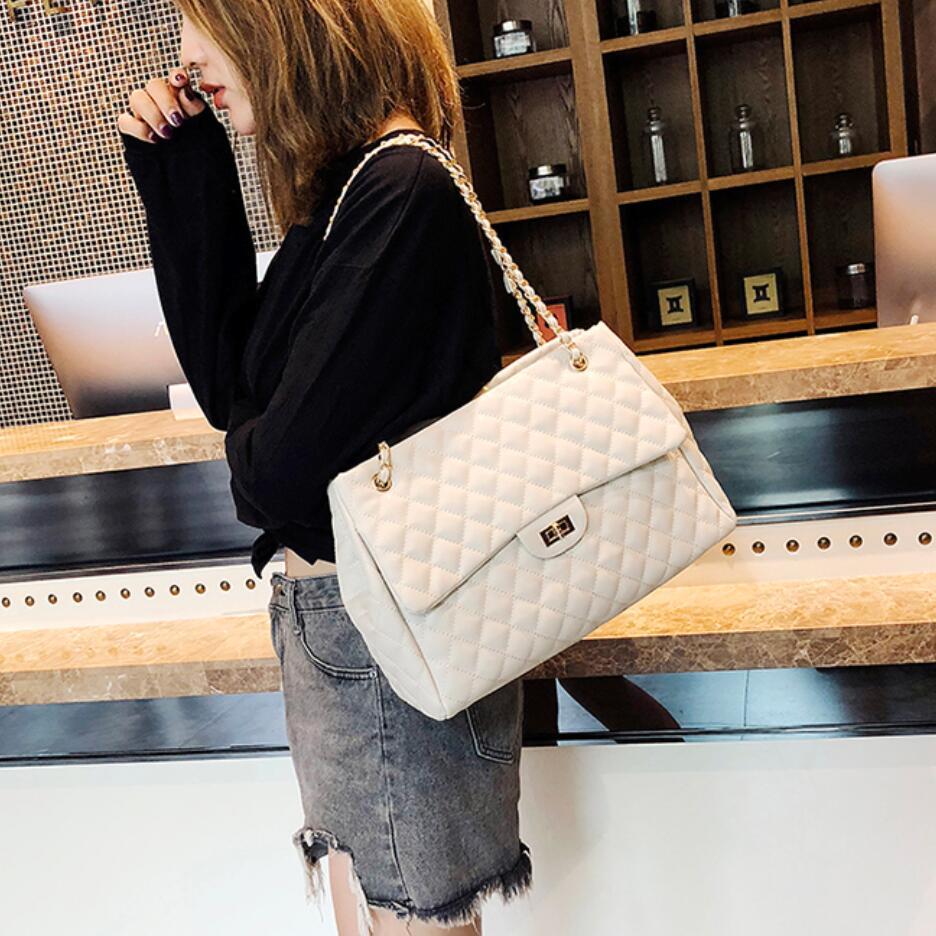 919c53ac090 2018 PU Leather Handbags Women's Designer Handbag The Big Women's Lattice  Lock Shopping Bag Large Handbags Tote Shoulder Bags