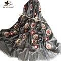 Новый Бахромой Края Продолговатые Шарф для Женщин Весна Осень Негабаритных Цветок Шаль Простой Дизайн Мягкой Дышащей Длинные Пашмины
