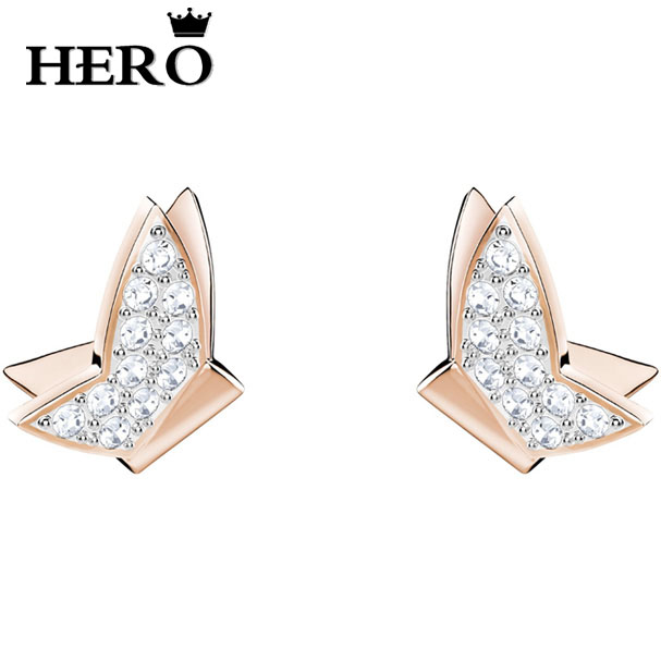 HERO Original Copy Of High Quality 1:1 SWA Butterfly Ear Stud Logo Free Of Charge With Wholesale ManufacturersHERO Original Copy Of High Quality 1:1 SWA Butterfly Ear Stud Logo Free Of Charge With Wholesale Manufacturers