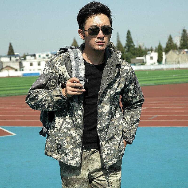Mens tactique militaire camouflage Softshell vestes décontractées - Vêtements pour hommes - Photo 3