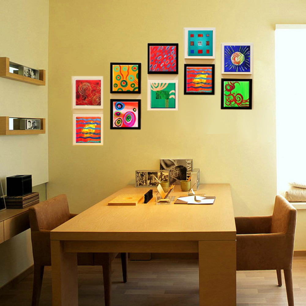 Decorative panel modern canvas handmade abstract wall mural ...