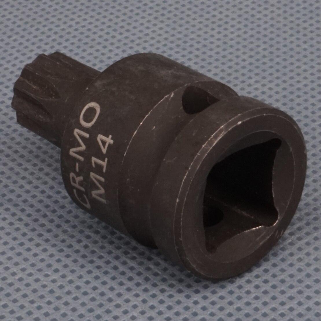 """1//2 /"""" 14mm M14 12pt Triple Square Socket Rear Caliper Removing Tool for VW MKV"""