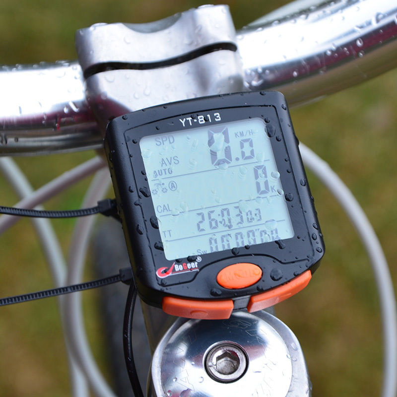 BOGEER YT-813 Wired Bike Bicycle Computer Odometer Backlight LCD Speedometer US