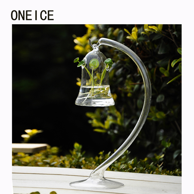simple glass vase transparent christmas decorations for home accessories hanging hydroponics can be hung flower vase