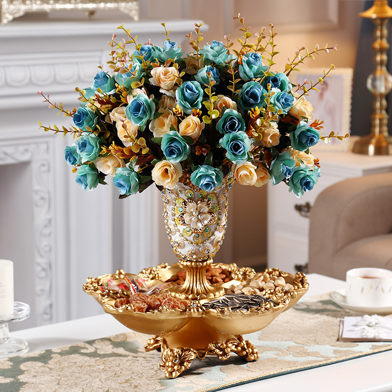 European Tea Table Vase  Fruit dish ornaments  The living room is luxurious and creative Practical creative ornaments