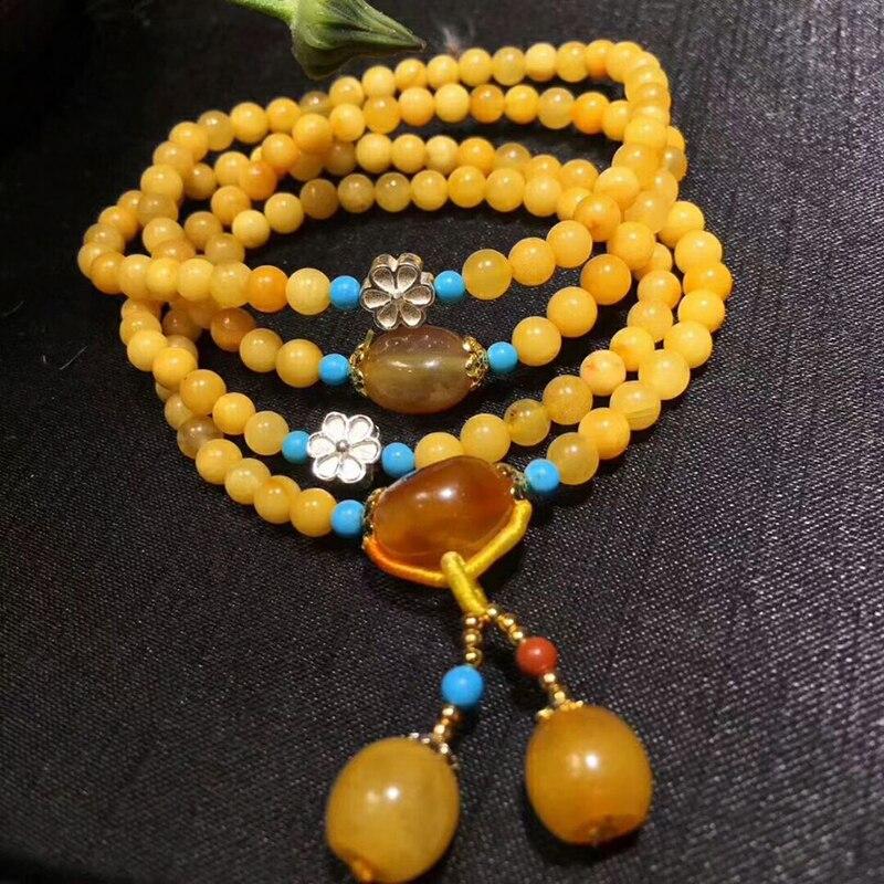 Оптовая продажа JoursNeige желтый натуральная руда браслеты из камней бусины с подвеска в форме шарика Ручной струны женский подарочный Шарм браслет ювелирные изделия - 4