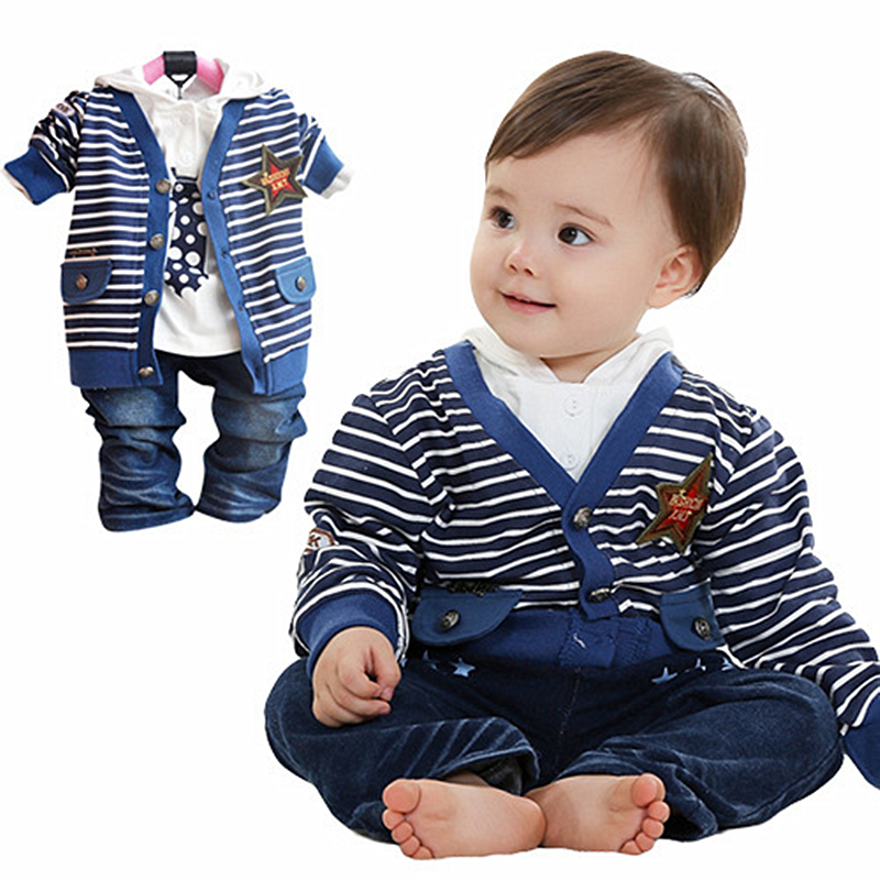 ФОТО Anlencool Rushed Special Offer Coat Free Shipping Brand Boys Baby Clothing Pose Infant Valley Three-piece Cotton baby boys set