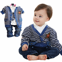 Anlencool Rushed Special Offer Coat Free Shipping Brand Boys Baby Clothing Pose Infant Valley Three piece Cotton baby boys set