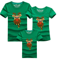 Family Look Christmas Milu Deer Family Clothing Dad Mom Boy T-Shirt Mommy and Me Daughter clothes Father Son Matching Clothing