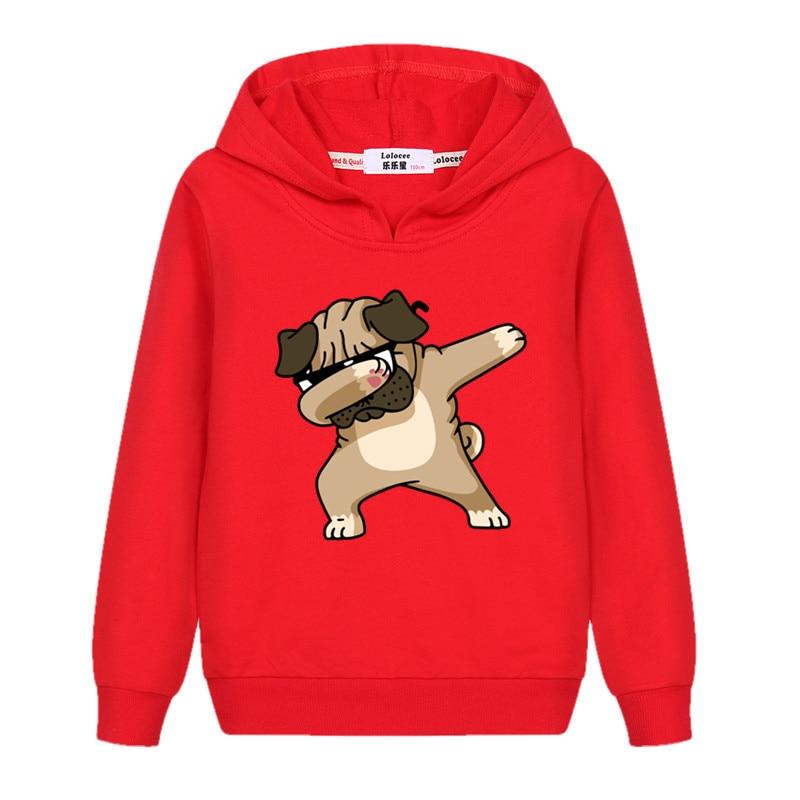 Girls New Fashion Dabbing Hoodie Kids Autumn Cotton Dab Coat Baby Boy Funny Cartoon Sweatshirts 3-14T Child Tops Printed Clothes 3