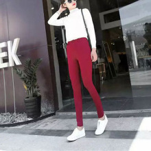 Nice Pop Pop Women Trousers Show Waist Solid Ladies Leggings Female Skiny Pants Plus Size Fashion AA9199