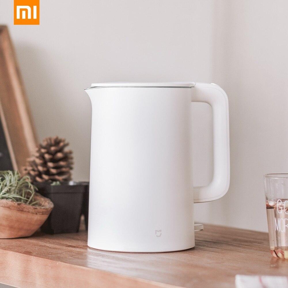 Оригинал Сяо mi Цзя mi Электрический чайник воды 1.5L Авто Защита от отключения питания 304 Нержавеющаясталь внутренняя Слои Fast кипения 220 В