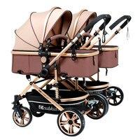 Разборки Mutiple младенцев и близнецы детская коляска двойной шок может разделить несколько Портативный рождения дети могут сидеть может лежа