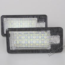 2X LED Number License Plate Light direct fit Error Free White Lamp 12V For Audi A3 A4 A6 A8 Q7 RS4 RS6 6500K