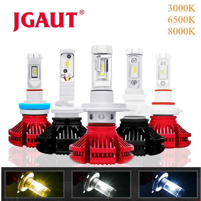 JGAUT H7 LED Car light H1 H3 H4 Fog Bulbs Automotive Lamp X3 H11 9005 9006 CSP 16000LM Headlight 3000K 6000K 8000K Blue Yellow