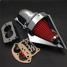 For 02-09 Kawasaki Vulcan 1500 1600 Motorcycle Air Cleaner Kit Intake Filter CHROME 2002 2003 2004 2005 2006 2007 2008 цена