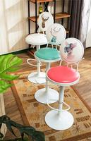 iron art bar chair swivel the modern simple bar stool 002