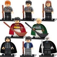 Harry Potter 8pcs/lot Hermione Malfoy Ron Lord Voldemort Figure Snape Building Blocks Models Toys for Children Figure Set
